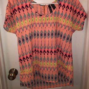 Colorful Patterned Blouse